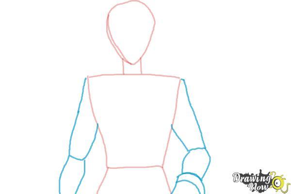 How to Draw Voltkatze, Boyacky from Yoru No Yatterman - Step 3