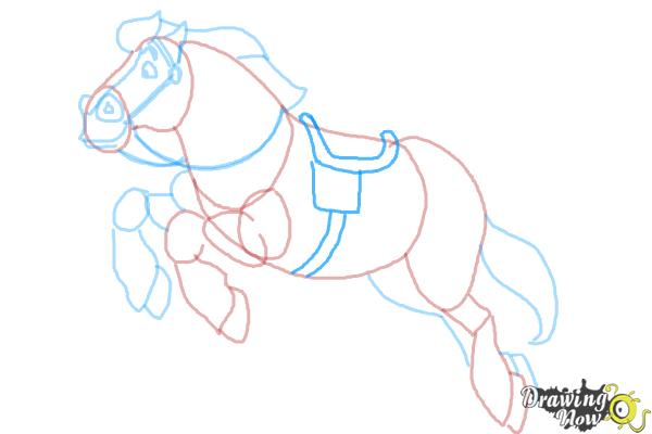 How to Draw Philippe from Beauty and the Beast - Step 10