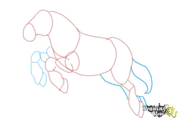 How to Draw Philippe from Beauty and the Beast - Step 7