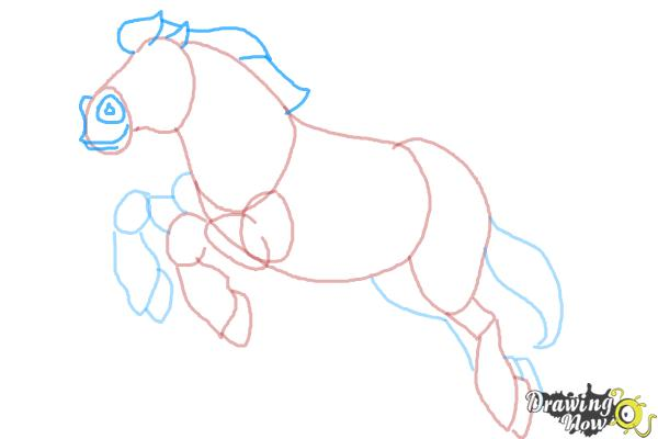 How to Draw Philippe from Beauty and the Beast - Step 8