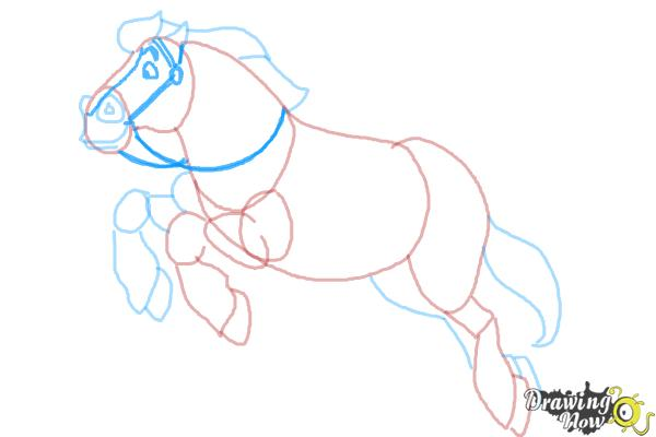 How to Draw Philippe from Beauty and the Beast - Step 9