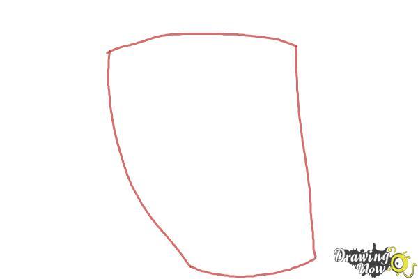 How to Draw Elephantus, Tonzura from Yoru No Yatterman - Step 1