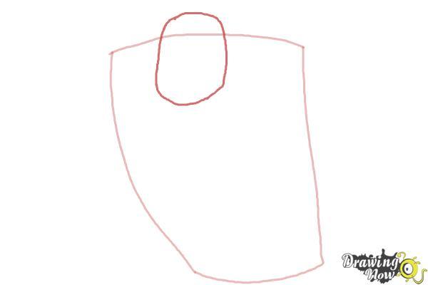 How to Draw Elephantus, Tonzura from Yoru No Yatterman - Step 2