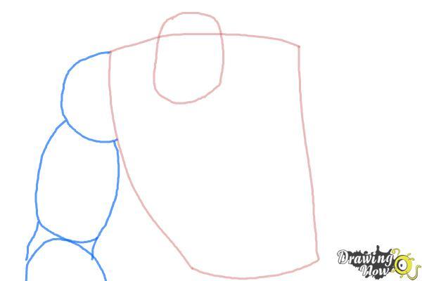 How to Draw Elephantus, Tonzura from Yoru No Yatterman - Step 3