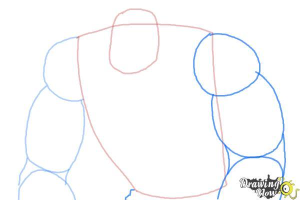 How to Draw Elephantus, Tonzura from Yoru No Yatterman - Step 4