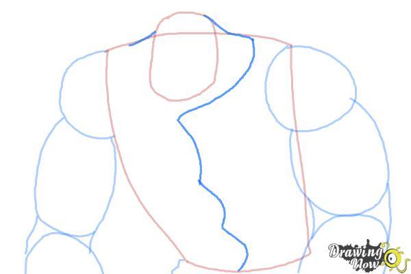 How to Draw Elephantus, Tonzura from Yoru No Yatterman - Step 5