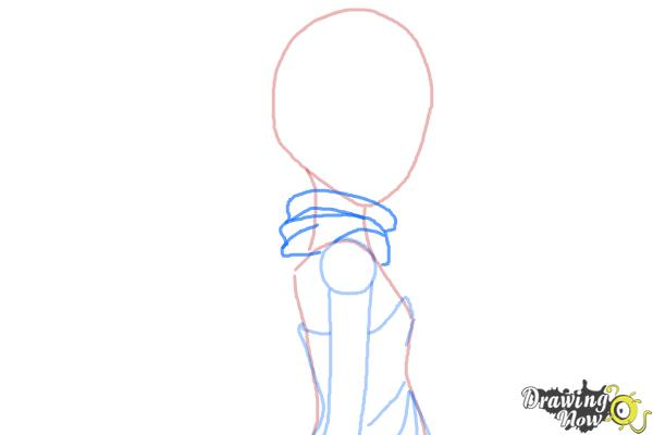 How to Draw Leopard, Doronjo from Yoru No Yatterman - Step 4