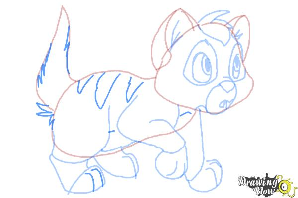 How to Draw Oliver from Oliver and Company - Step 10