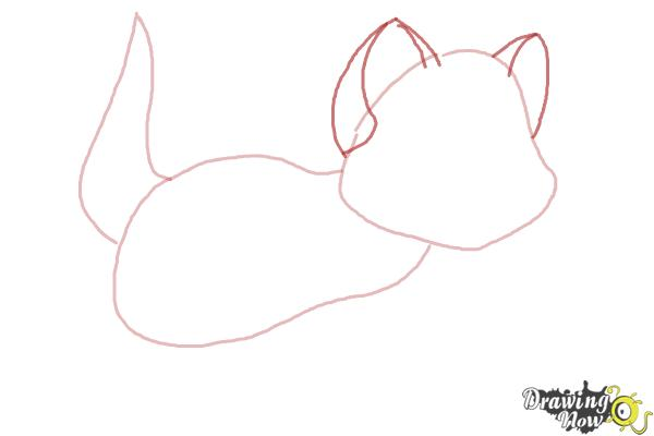 How to Draw Oliver from Oliver and Company - Step 3