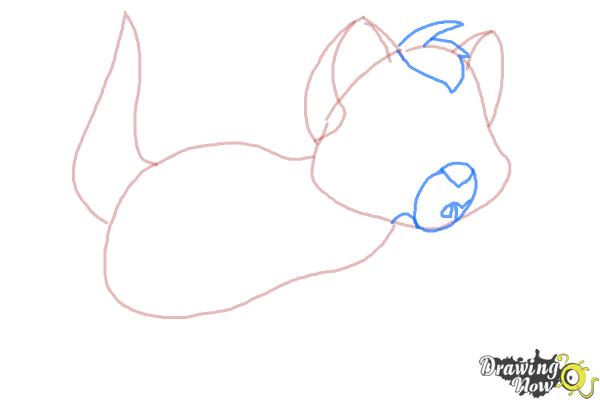 How to Draw Oliver from Oliver and Company - Step 4