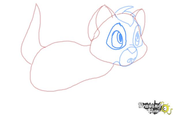 How to Draw Oliver from Oliver and Company - Step 6