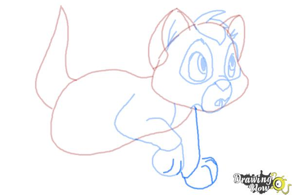 How to Draw Oliver from Oliver and Company - Step 8