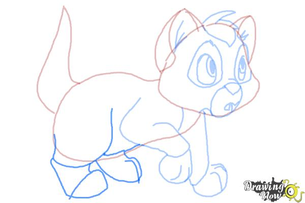 How to Draw Oliver from Oliver and Company - Step 9