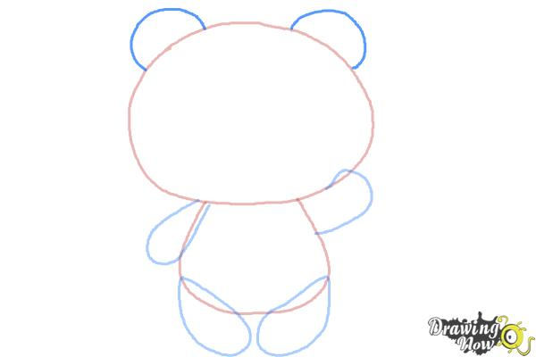 How to Draw a Panda Step by Step - Step 5