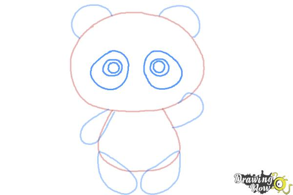 How to Draw a Panda Step by Step - Step 6
