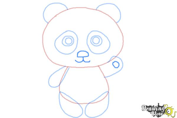 panda drawing step by step - photo #7