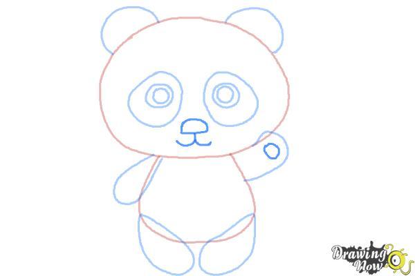 panda drawing step by step - photo #7