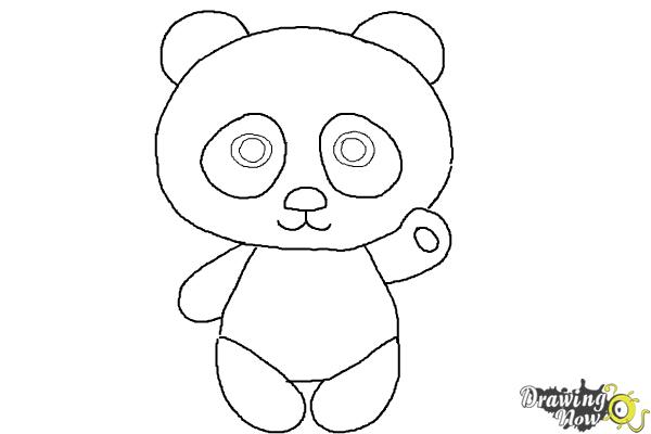 How to draw a panda step by step drawingnow for How to make cartoon drawings step by step