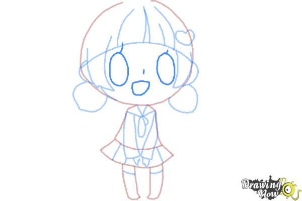 How to Draw a Chibi Girl - Step 10