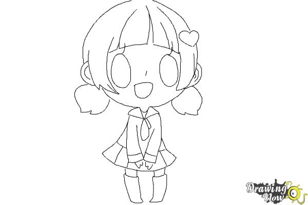 How to draw a chibi girl drawingnow for Steps to draw a girl