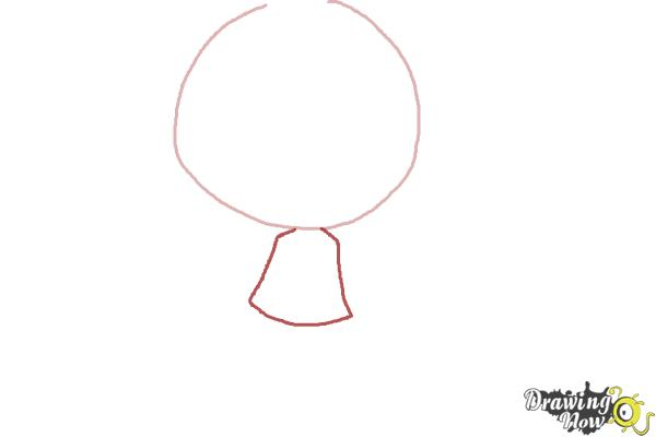How to Draw a Chibi Girl - Step 2