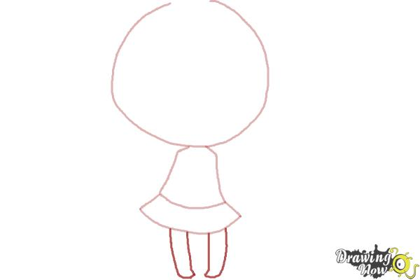 How to Draw a Chibi Girl - Step 4
