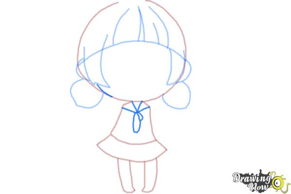 How to Draw a Chibi Girl - Step 7
