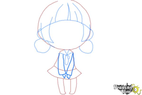How to Draw a Chibi Girl - Step 8