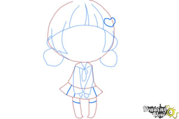 How to Draw a Chibi Girl - Step 9