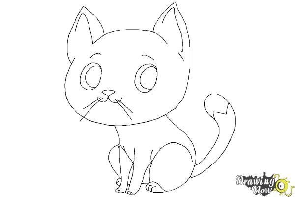 How to Draw a Cat Step by Step - DrawingNow