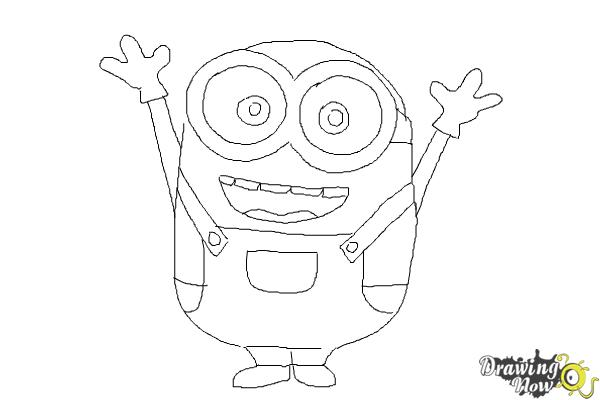 How To Draw A Minion Step By Step Drawingnow