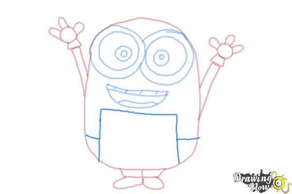 How to Draw a Minion Step by Step - Step 8