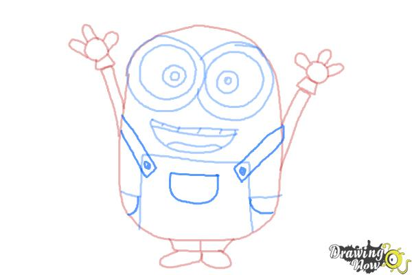 How to Draw a Minion Step by Step - Step 9