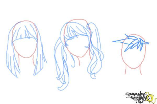 How to Draw Manga Hair - Step 10