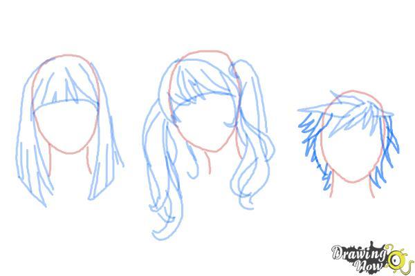 How to Draw Manga Hair - Step 11