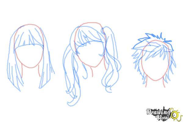 How to Draw Manga Hair - Step 12