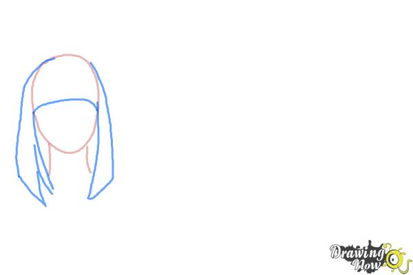 How to Draw Manga Hair - Step 2