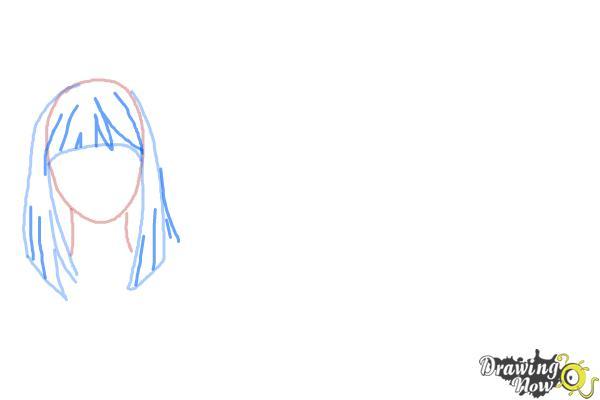 How to Draw Manga Hair - Step 3