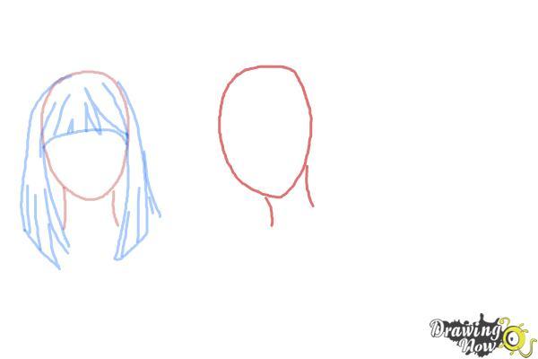 How to Draw Manga Hair - Step 4