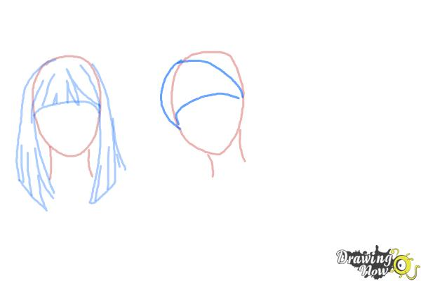 How to Draw Manga Hair - Step 5