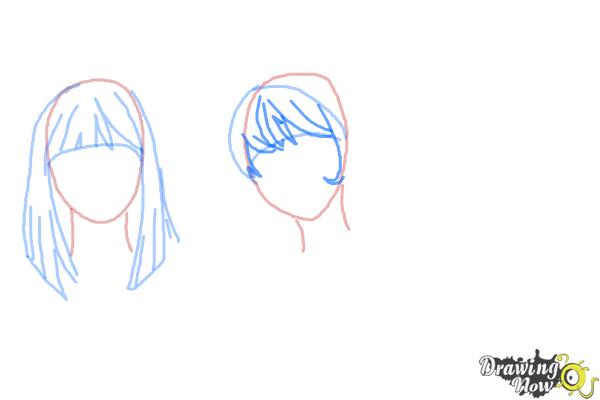 How to Draw Manga Hair - Step 6