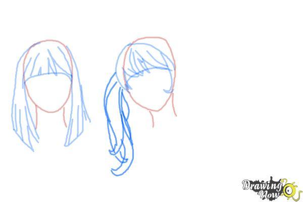 How to Draw Manga Hair - Step 7