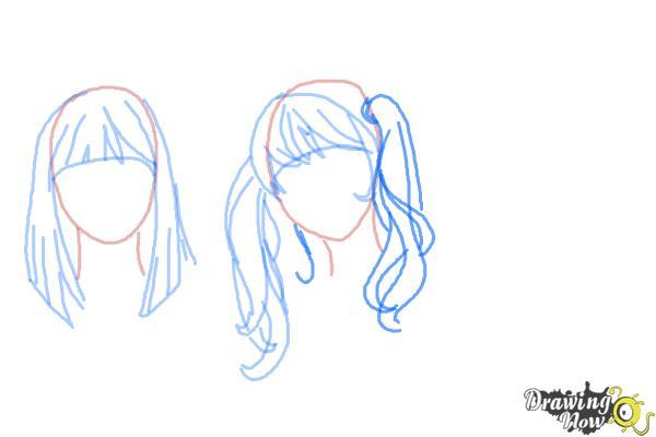 How to Draw Manga Hair - Step 8