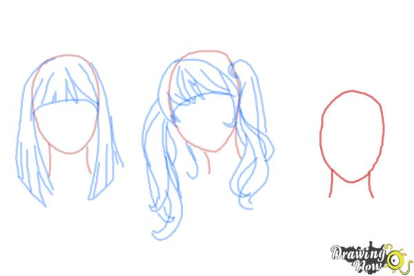 How to Draw Manga Hair - Step 9