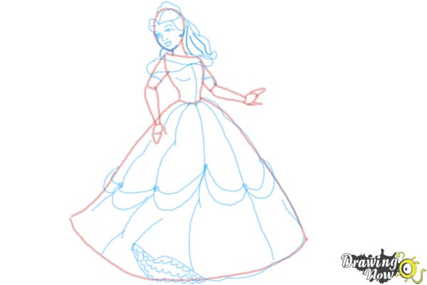 How to Draw Disney Princesses - Step 10