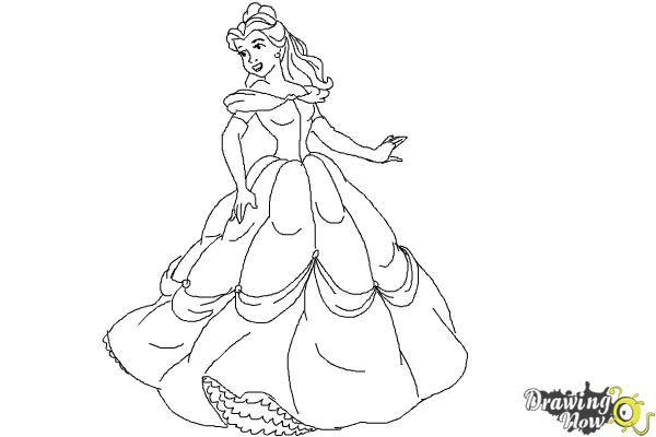 How to Draw Disney Princesses - Step 11