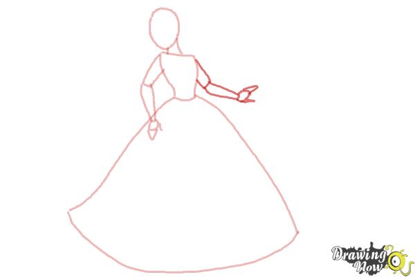 How to Draw Disney Princesses - Step 4