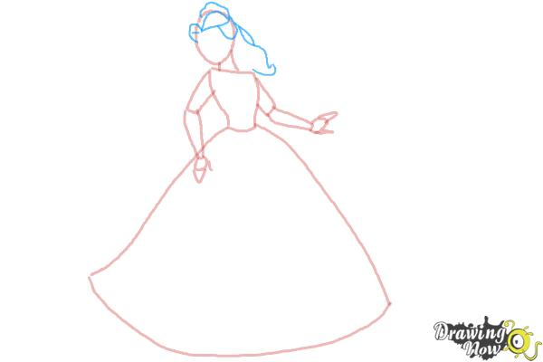 How to Draw Disney Princesses - Step 5