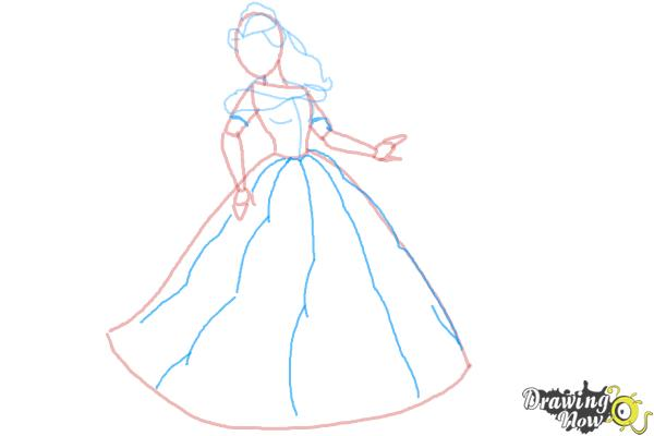 How to Draw Disney Princesses - Step 7