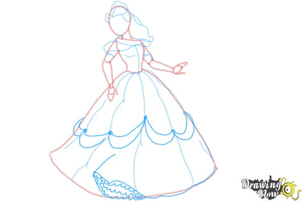 How to Draw Disney Princesses - Step 8